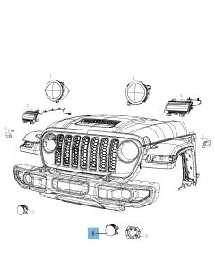 Mistlamp voor Jeep