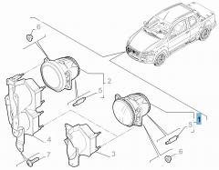 Mistlamp voor Fiat Professional Strada