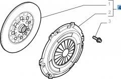 Set koppeling (koppelingsplaat en drukplaat) voor Fiat Croma