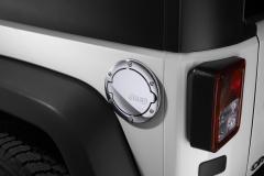 Verchroomde brandstofdop met Jeep-logo
