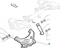 Linker schommelarm voor achterophanging voor Fiat en Fiat Professional