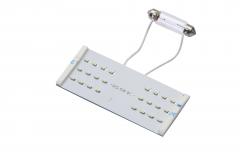 Set LED-lampen voor rechthoekige plafondverlichting