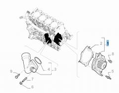 Waterpomp met afdichting voor Fiat Professional Scudo