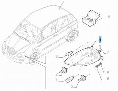 Koplamp linksvoor voor Lancia Musa