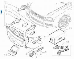 Koplamp linksvoor voor Fiat en Fiat Professional