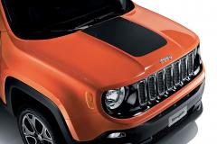 Sticker voor motorkap mat zwart voor Jeep Renegade