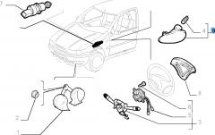 Zijdelingse richtingaanwijzer voor Fiat Professional Strada