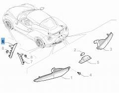 Zijdelingse richtingaanwijzer rechtsvoor voor Alfa Romeo 4C