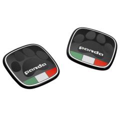 Badge Panda met Italiaanse vlag