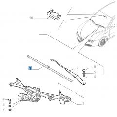 Kit 2 ruitenwissers voor voorruit voor Alfa Romeo