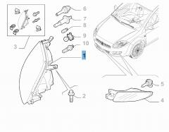 Koplamp linksvoor voor Fiat Bravo