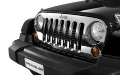Verchroomde frontgrille voor Jeep Wrangler