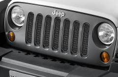 Frontgrille gesatineerd zwart voor Jeep